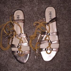 Anthropologie Billy Ella Gladiator Tie Sandals
